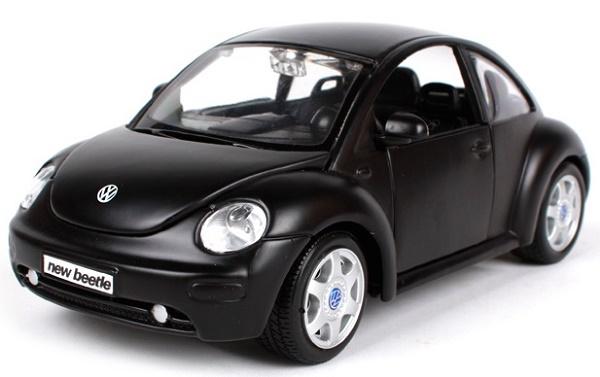 โมเดลรถยนต์ โมเดลรถเหล็ก VW New Beetle matte black 1