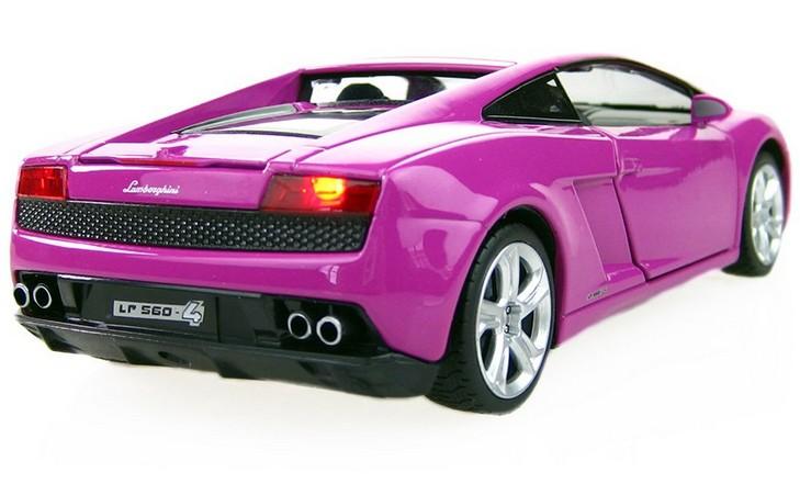 โมเดลรถ โมเดลรถยนต์ โมเดลรถเหล็ก Lamborghini 560-4 Purple 2