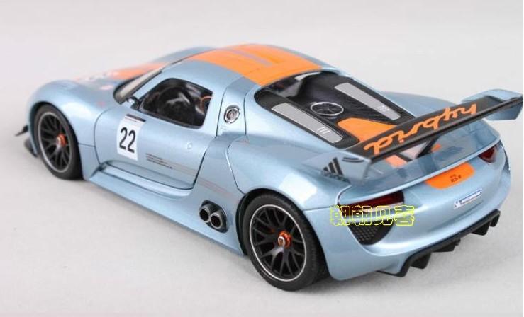 โมเดลรถเหล็ก โมเดลรถยนต์ Porsche 918 RSR 2