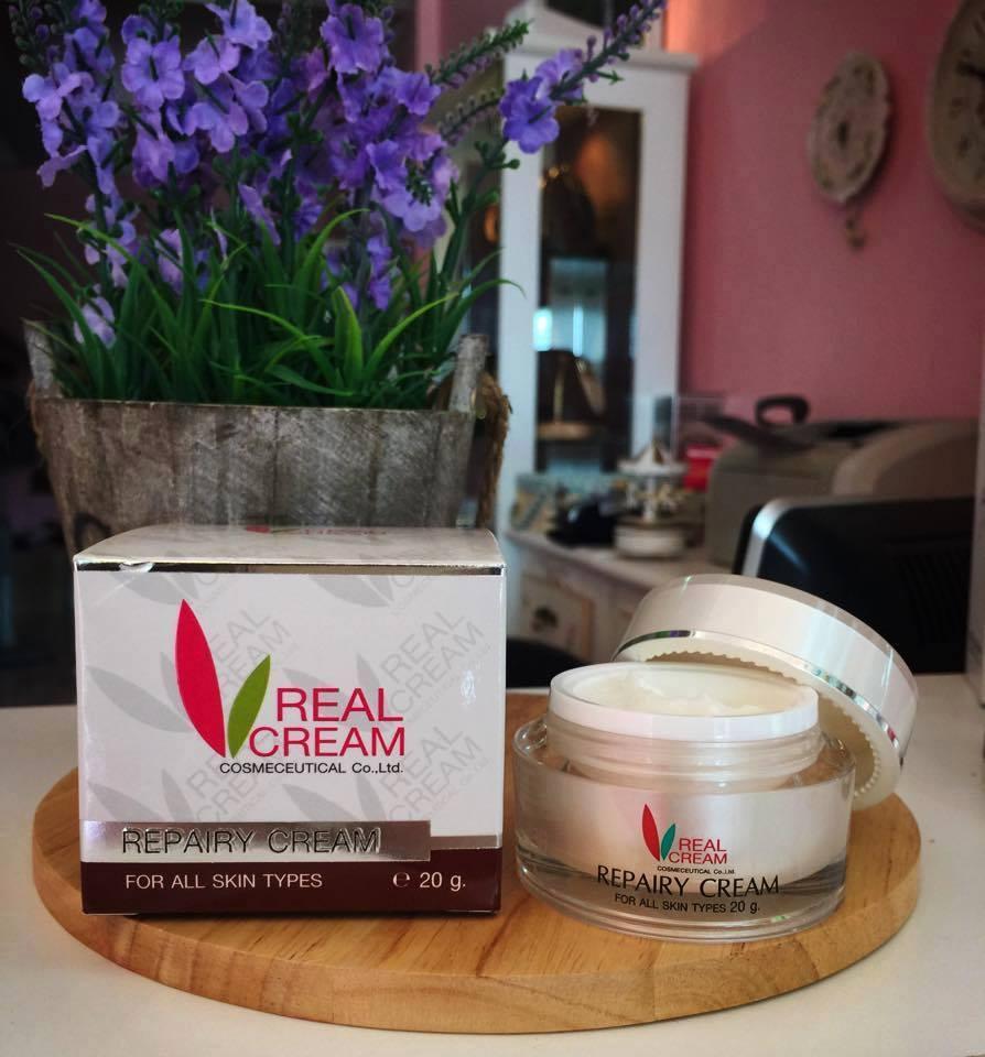 **ขายดีทุกออเดอร์** เรียวครีม รีแพร์ครีม 5 กรัม Pearly White Cream ครีมหน้าใส ปรับสมดุลผิวให้เนียนนุ่ม ดุจผิวได้เกิดใหม่อีกครั้ง