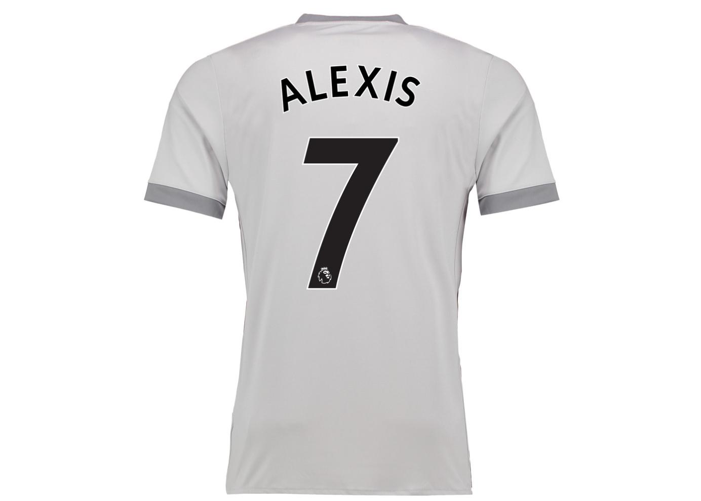 เสื้อแมนเชสเตอร์ ยูไนเต็ด 2017 2018 ชุดที่3 ติดชื่อ Alexis 7 ของแท้