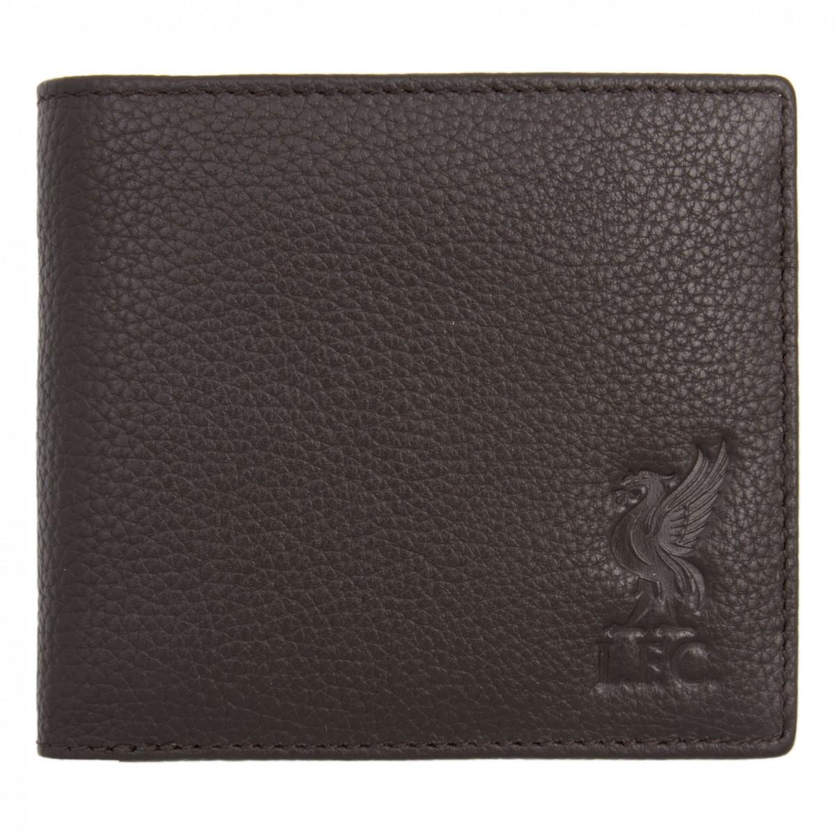 กระเป๋าสตางค์ลิเวอร์พูล Brown Leather Wallet ของแท้