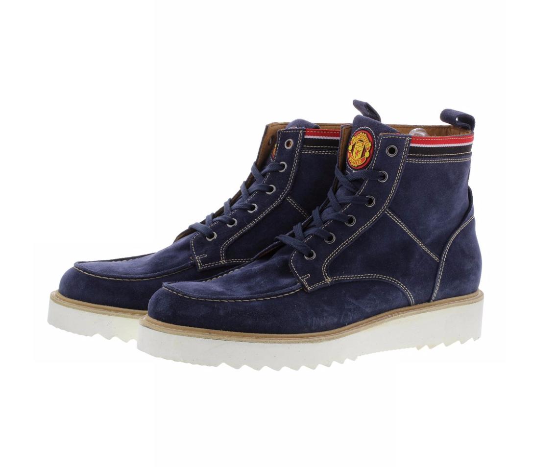 รองเท้าไลฟ์สไตล์แมนเชสเตอร์ ยูไนเต็ด Warwick Lifestyle Shoes Navy Mens ของแท้