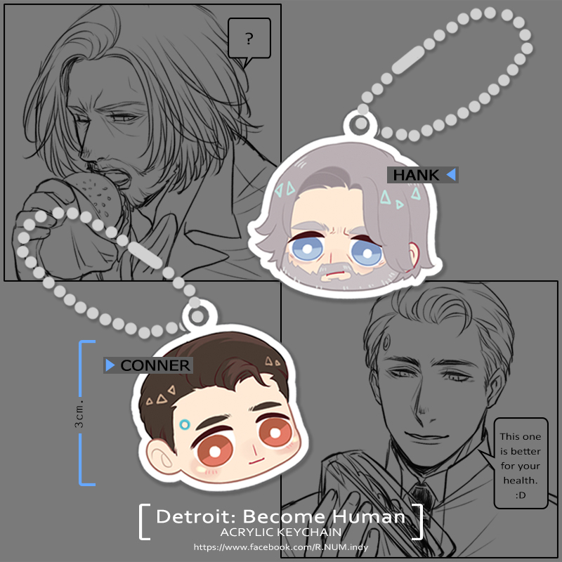 [Pre-Order] Detroit: Become Human ACRYLIC KEYCHAIN