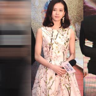"""size L""""พร้อมส่ง""""เสื้อผ้าแฟชั่นสไตล์เกาหลีราคาถูก Brand Aishikada เดรสผ้าชีฟองสีขาวแขนกุด ลายดอกไม้สีชมพู ซิปหลัง มีซับใน -size L"""