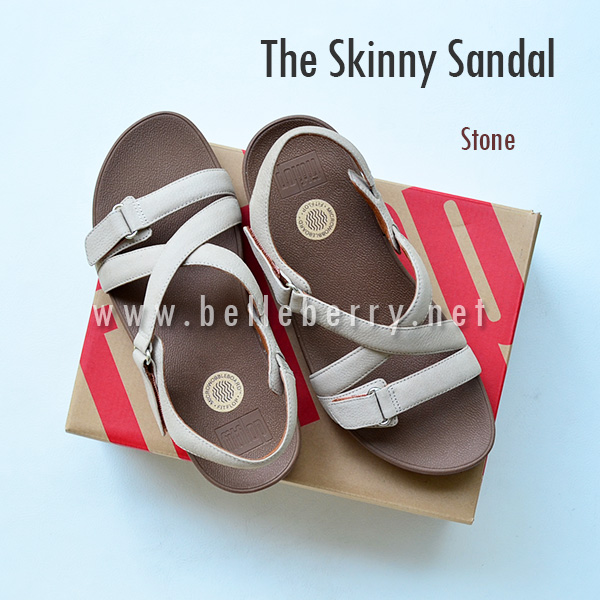 * NEW * FitFlop The Skinny Sandal : Stone : Size US 5 / EU 36