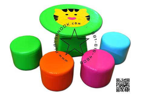 EVF-06 ชุดโต๊ะเสือน้อย-เก้าอี้ลูกกวาด