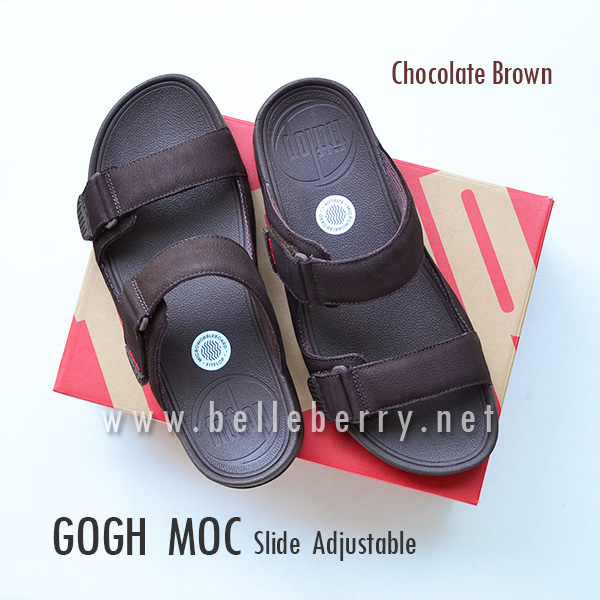 * NEW * FitFlop Men's : GOGH MOC Slide : Chocolate Brown : Size US 9 / EU 42