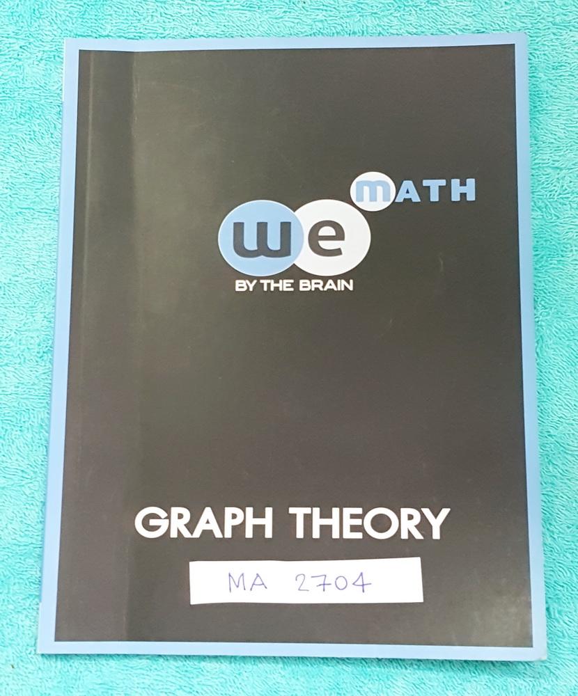 ►วีเบรน◄ MA 2704 คณิตศาสตร์ ม.5 ทฤษฎีกราฟเบื้องต้น มีสรุปสูตร และโจทย์แบบฝึกหัด จดครบเกือบทั้งเล่ม จดละเอียด ด้านหลังมีเฉลยของอาจารย์ครบทุกข้อ มีแสดงวฺิธีทำอย่างละเอียด หนังสือจดโดยน้องที่ติดมหาวิทยาลัยธรรมศาสตร์