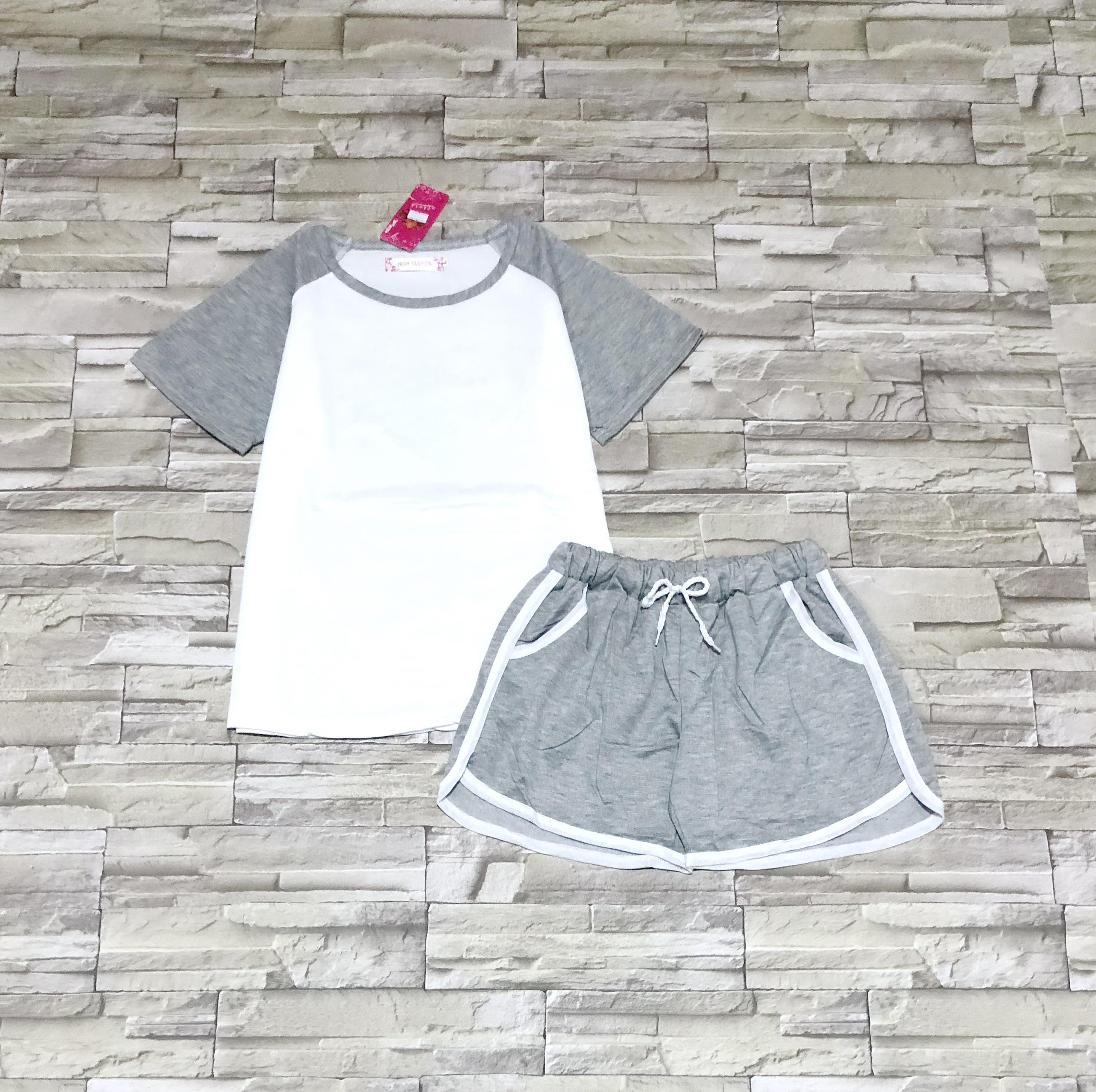 ส่ง:งานจีนเช็ท2ชิ้นแบบใส่สบาย/เสื้ออก36+กางเกงเอวยืดได้22-38