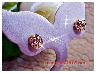INSPIRE JEWELRY ต่างหูเพชรสวิส หุ้มทองแท้ 100% or gold plated/diamond clonning