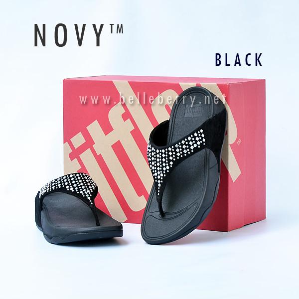 **พร้อมส่ง** FitFlop : NOVY : Black : Size US 9 / EU 41