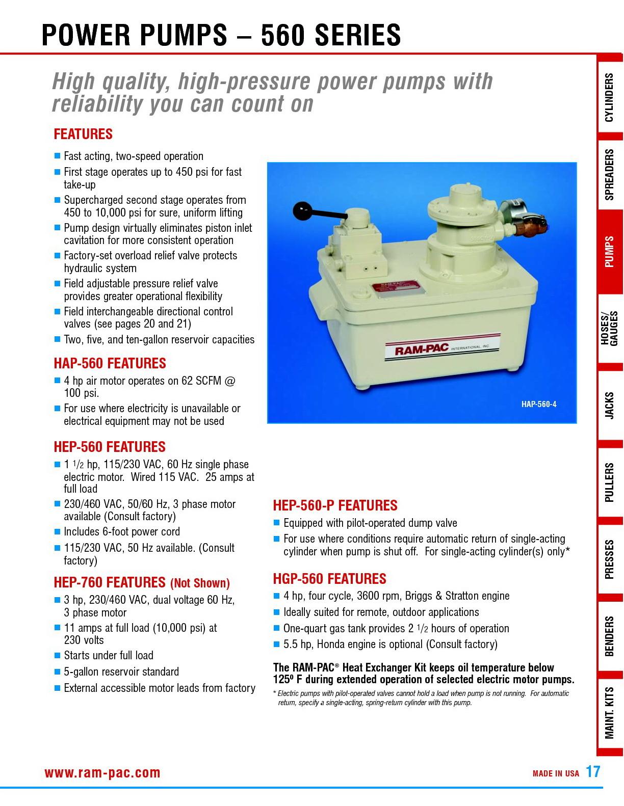 RAM PAC HYDRAULIC TOOLS - BEST HARDWARE CO ,LTD ขาย-ติดตั้ง เครื่อง