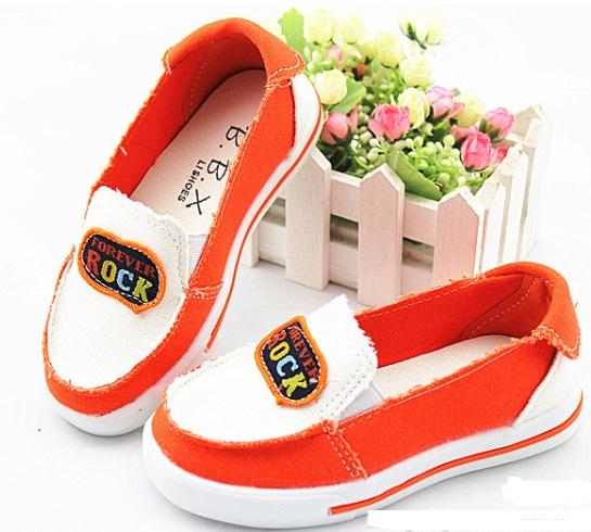 รองเท้าผ้า Rock *ส้ม*  5 คู่/แพค *ส่งฟรี*