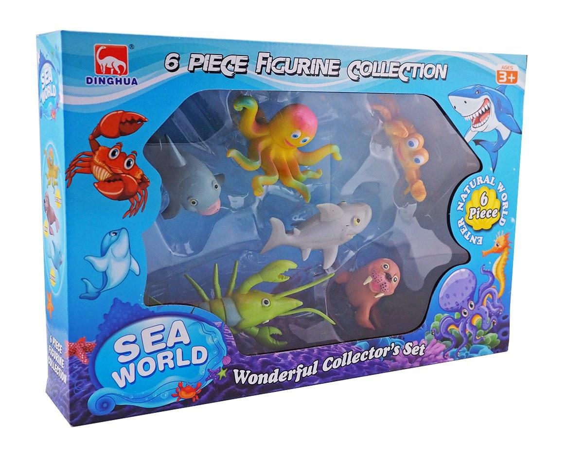 Sea World เซทสัตว์น้ำ 6 ชิ้น