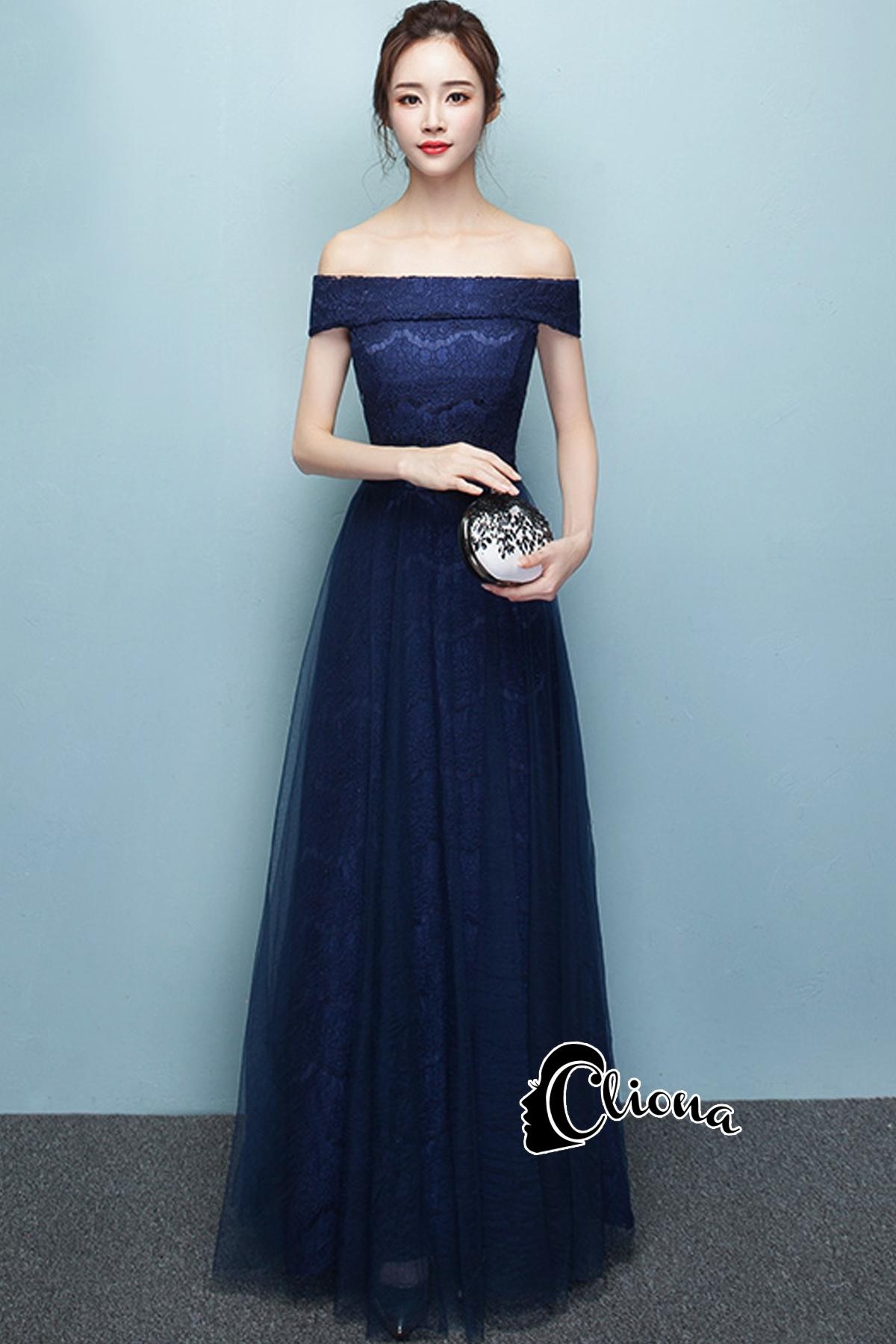 ชุดเดรสเกาหลี พร้อมส่งNavy Diamond Extra Luxury Dress