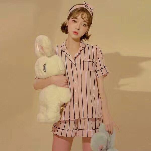เสื้อผ้าเกาหลีพร้อมส่ง เซทชุดนอน 3 ชิ้น
