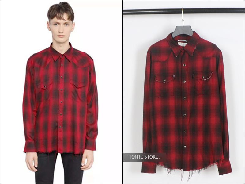 เสื้อเชิ้ตSaint Laurent - Checked SS16