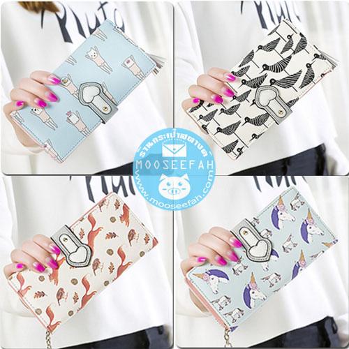 Triple Folding Wallet ใบยาว [แบบพับครึ่ง+มีซิปแยก]