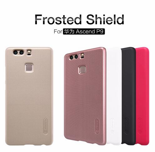 เคส Huawei P9 ของ Nillkin Super Frosted Shield - สีดำ แถมฟรี ฟิมล์กันรอย 1 ชุด