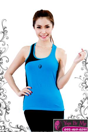 เสื้อกล้ามโยคะเต็มตัว AC702 สีฟ้า
