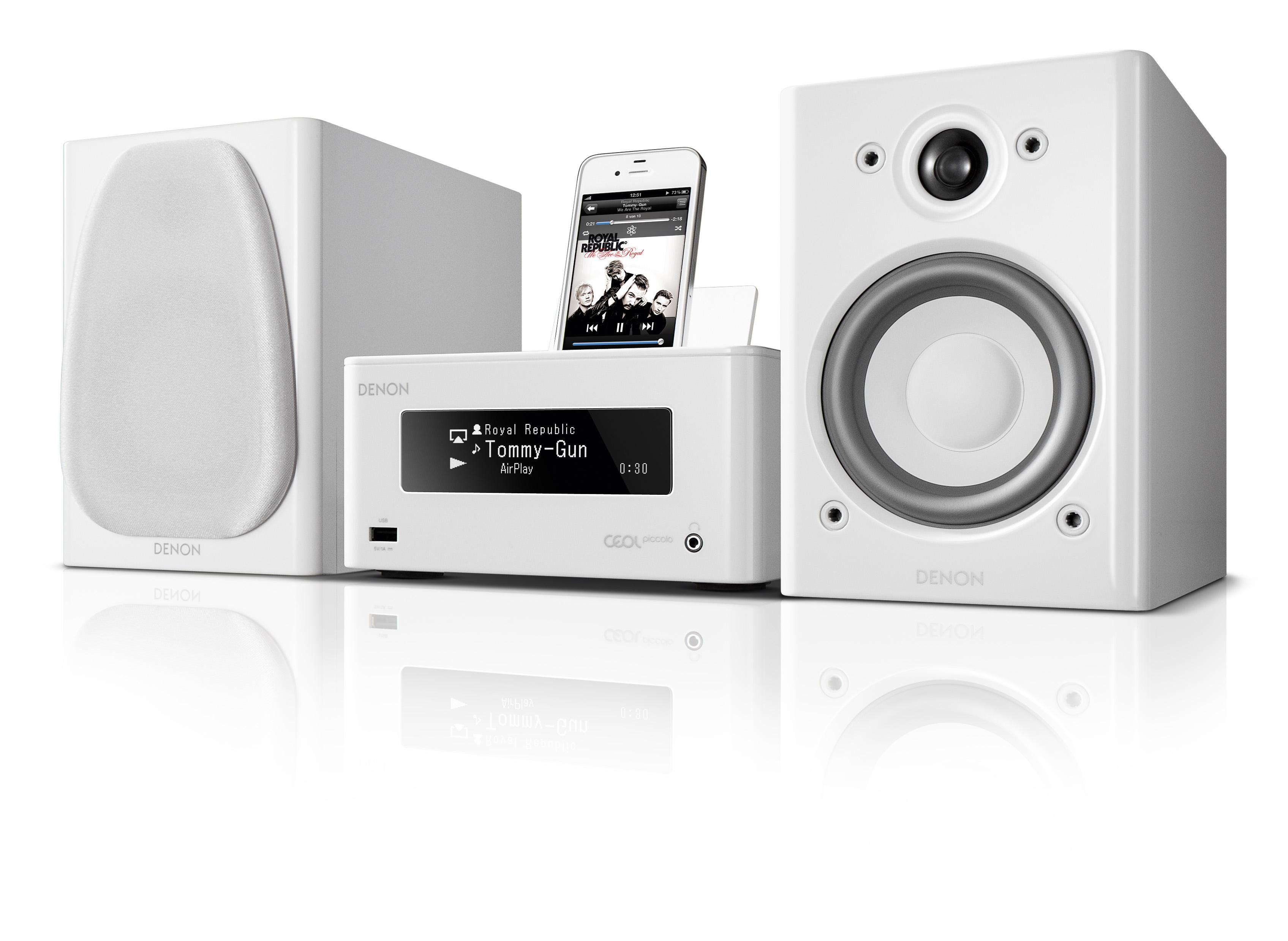 ชุดเครื่องเสียงDENON CEOL Piccolo N5 (White) ชุดเครื่องเสียงที่รองรับการเชื่อมต่อแบบไร้สายด้วยเทคโนโลยี Air Play