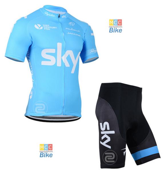 ชุดปั่นจักรยาน SKY BLUE ขนาด XXXL พร้อมส่งทันที ฟรี EMS