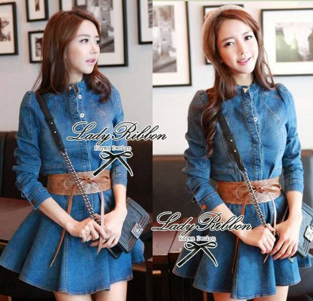 DR-LR-246 Lady Mara Chic Denim Dress