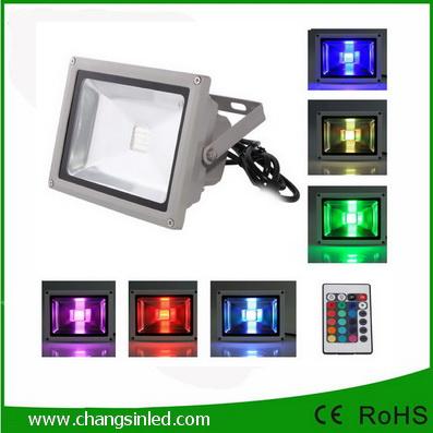 สปอร์ตไลท์ LED Flood Light 50W RGB เปลี่ยนสีได้ด้วยรีโมทคอนโทรล