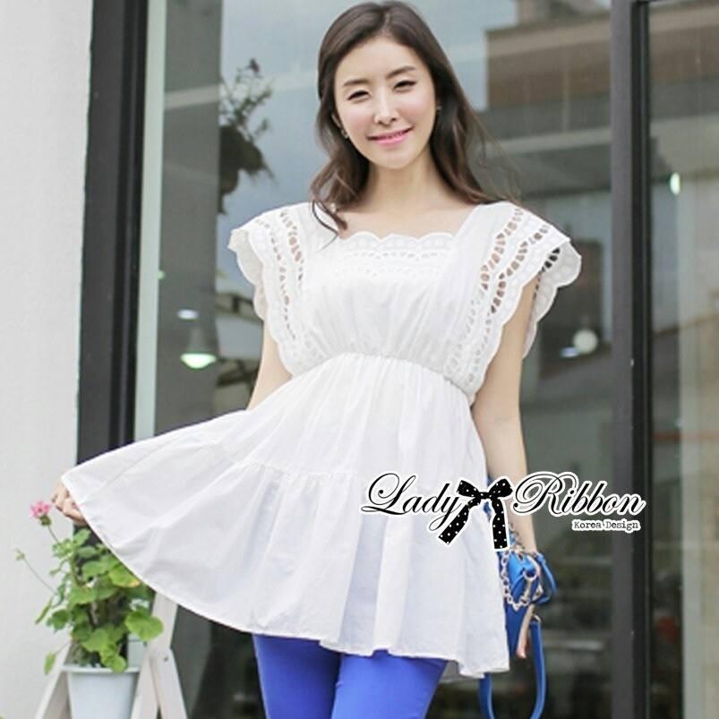 DR-LR-119 Lady Virginia Sweet Elegant Cotton Lace Dress