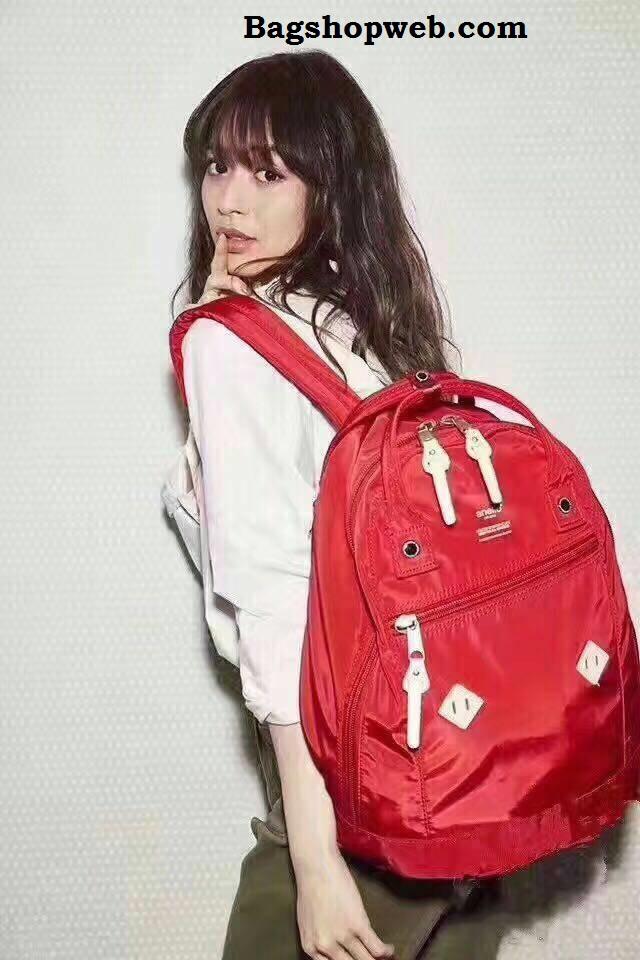 กระเป๋า Anello rucksack nylon day pack back 2017 Red ราคา 1,290 บาท Free Ems