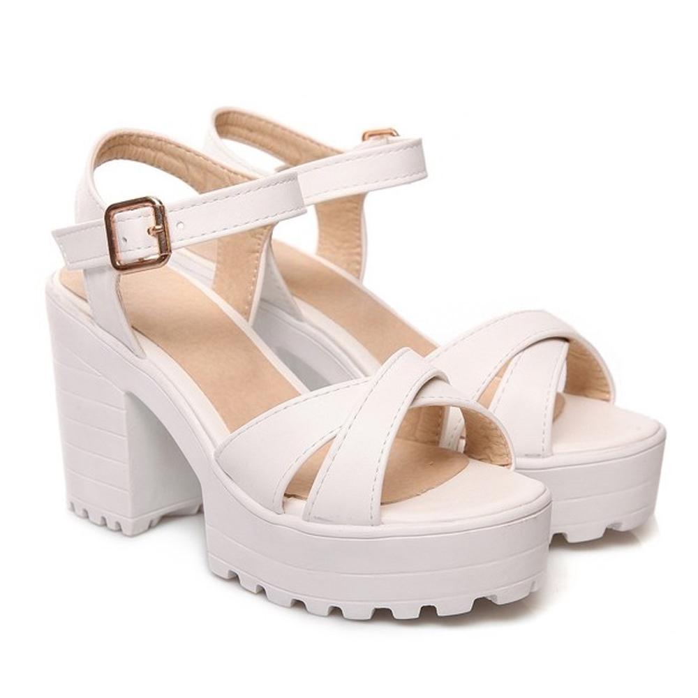 รองเท้ามัฟฟินไซส์ใหญ่ 41-46 รัดข้อเท้า สีขาว รุ่น KR0465