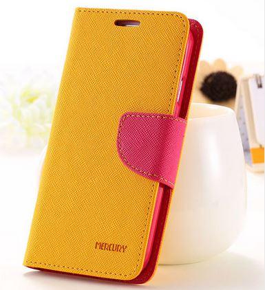 เคส asus zenfone selfie ZD551KL ฝาพับ mercury fancy diary case สีเหลือง-ชมพู