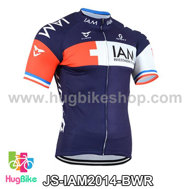 เสื้อจักรยานแขนสั้นทีม IAM 2014 น้ำเงินขาวแดง สั่งจอง (Pre-order)