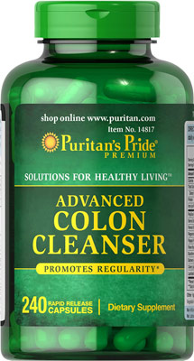 Detox ลำไส้ Puritan's Pride Advanced Colon Cleanser 240 Capsules