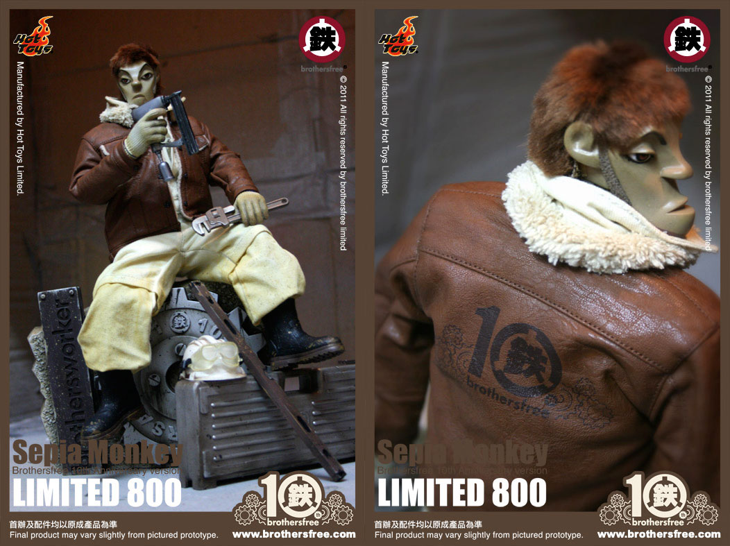 Hot toys brothersworker - Monkey Sepia ver.