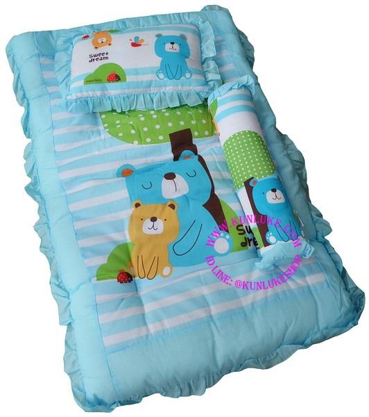 ที่นอนปิคนิค (ขนาดใหญ่) ยี่ห้อ PAPA สีฟ้า