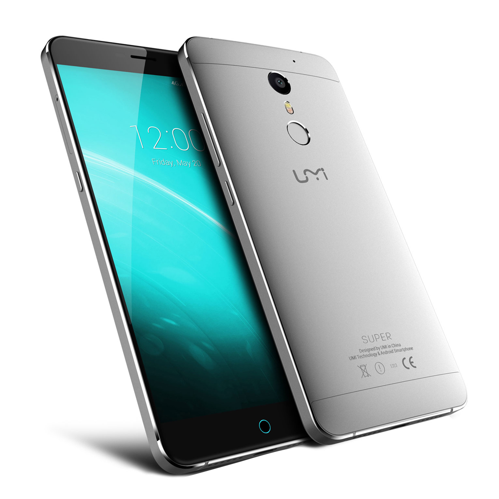 UMI Super สมาร์ทโฟน 4G Dual Sim Ram 4GB Rom 32GB Android 6.0 Quick Charge สีเทา