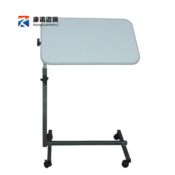 Pre-order โต๊ะทำงานปรับระดับ โต๊ะแล็ปท็อป โต๊ะวางคอมพิวเตอร์ โต๊ะพรีเซนต์งาน ปรับระดับได้ มีล้อเลื่อน สีขาว