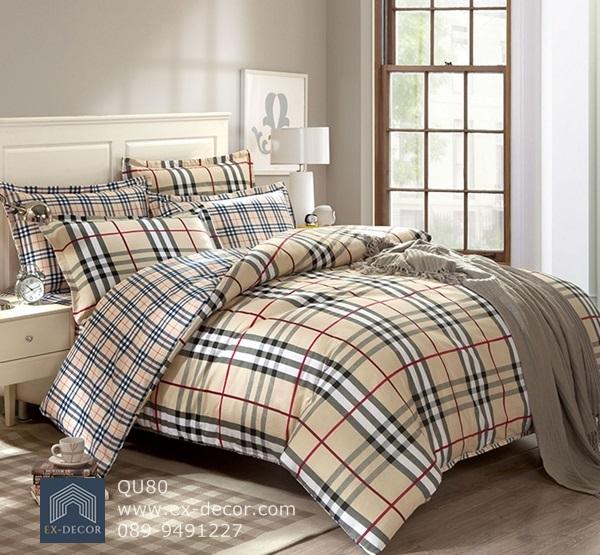 (Pre-order) ชุดผ้าปูที่นอน ปลอกหมอน ปลอกผ้าห่ม ผ้าคลุมเตียง ผ้าฝ้ายพิมพ์ลายสก๊อต