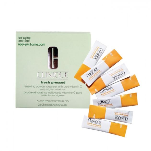 **พร้อมส่ง**Clinique Fresh Pressed Renewing Powder Cleanser with Pure Vitamin C ผลิตภัณฑ์ทำความสะอาดในรูปแบบแป้งเนื้อละเอียดที่ใช้น้ำ มีส่วนผสมของวิตามินซีเสริมการทำงาน ช่วยทำความสะอาด ทำให้ผิวดูกระจ่างใส สะอาด สดใส ,
