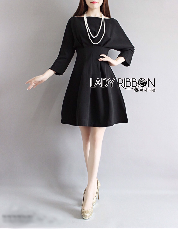 Lady Grenadine Classic Minimal Black Dress