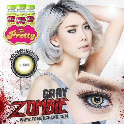 Zombie Gray Dia.14.5 คอนแทคเลนส์สีเทา Yiwa Gray สวย เปรี้ยว ที่สุด แซ่บ ฮิตในเน็ตไอดอล