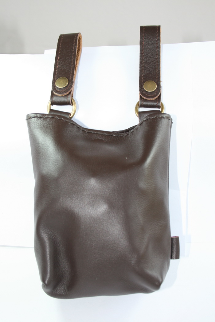 กระเป๋าหนังแท้ ถุงใส่ของ หนังออยล์ เงา สวย