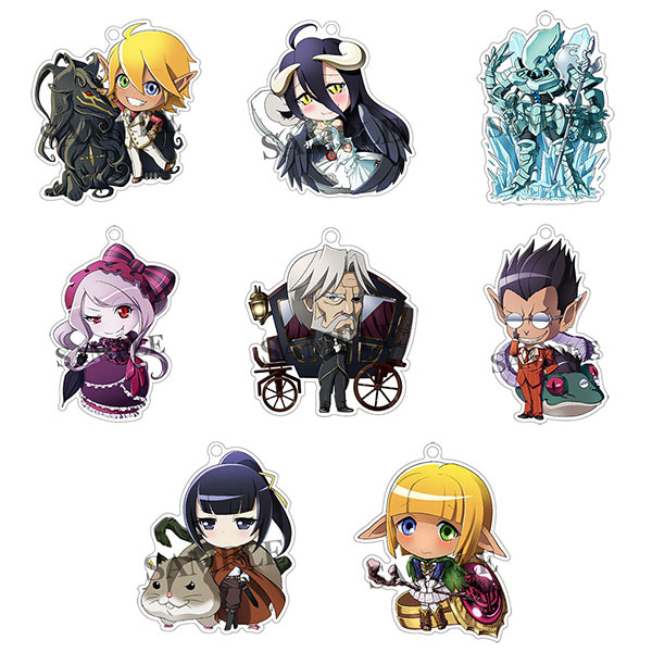 Overlord - Great Tomb of Nazarick Floor Guardians Acrylic Keychain 8Pack BOX(Pre-order)