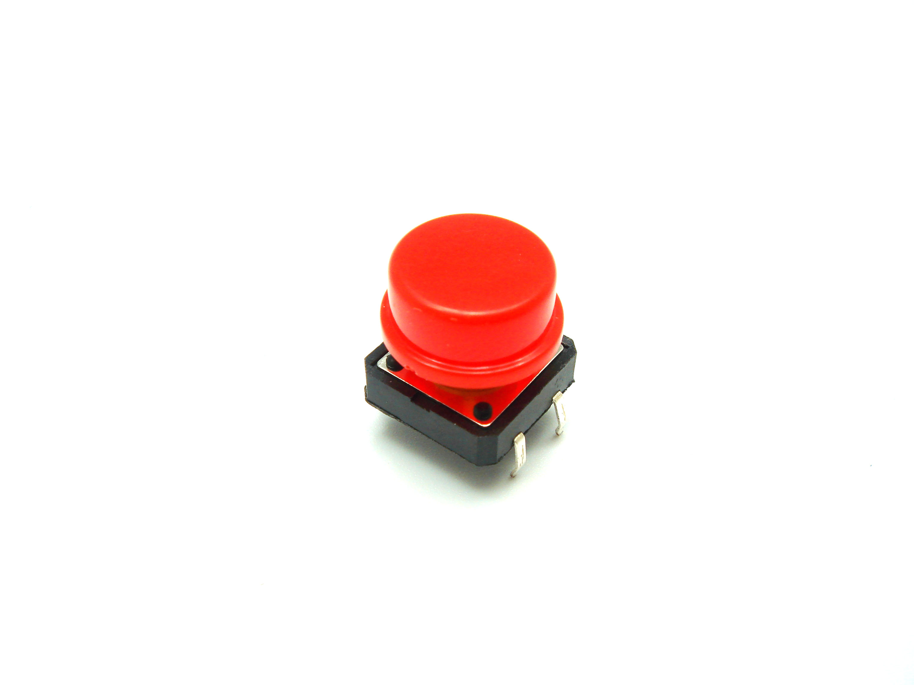 สวิตช์ ปุ่มกดติดปล่อยดับ B3F ขนาด 12 * 12 * 7.3 mm หัวสีแดง