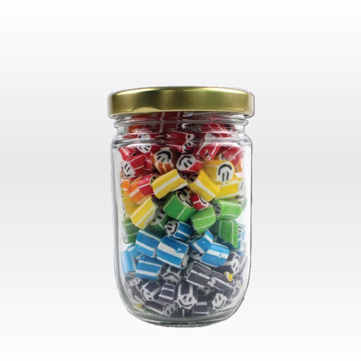 Large Jar of Colorful Smiley (160g. Jar)