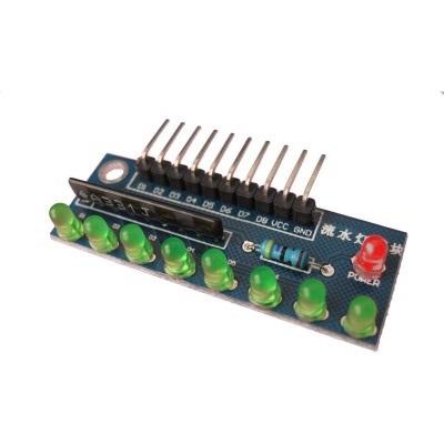 บอร์ดทดลอง LED 8 ดวง สีเขียว
