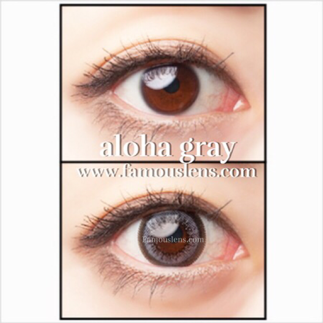 Little Aloha Ash Wing Contact Lens คอนแทคเลนส์ สีเทา ไซส์มินิ ขนาดเล็ก