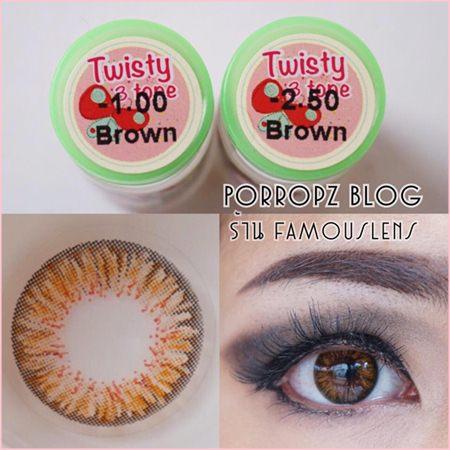 Twisty3Tone Brown Dia.14 คอนแทคเลนส์สีน้ำตาล รุ่นใหม่ ออกใหม่ รีวิว คอนแทคเลนส์ รีวิวคอนแทคเลนส์ น้องปอ porropz blog beauty blogger บิวตี้บล็อกเกอร์